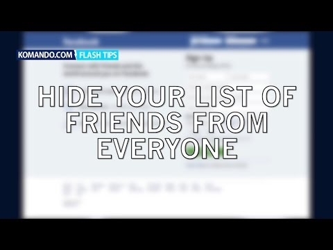 Hide your friends list on Facebook from everyone!