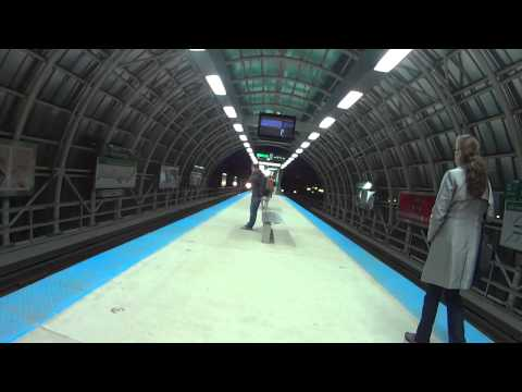 Cermak Green Line Station-Night March 2015