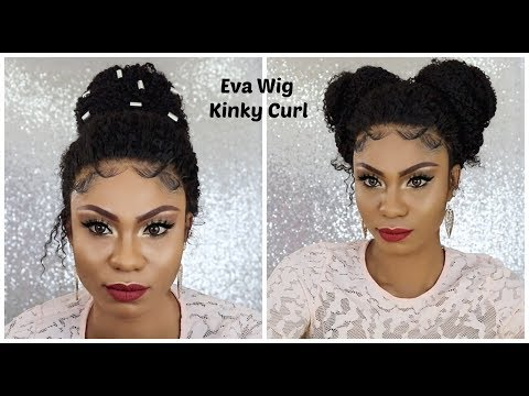 How To: Styling my Kinky Curl Full Lace Wig Ft. Eva Wig