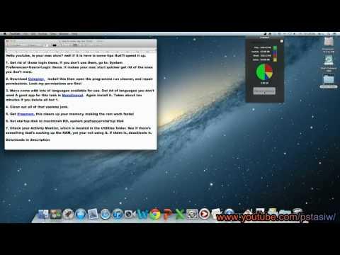 Yosemite! Decrease Boot Time and Make my Mac faster!  [HD]