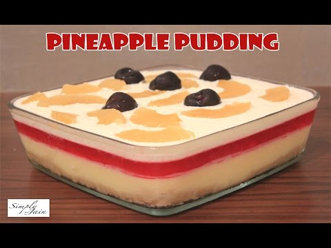 Multi Layered Pineapple Pudding | How To Make Pudding | Christmas Dessert | Simply Jain