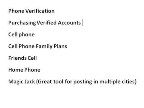 Create Multiple Craigslist Accounts to Avoid Ad Ghosting