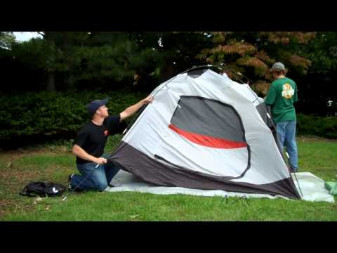 How to set up a 4 man tent