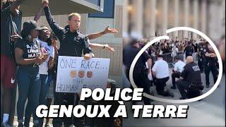 George Floyd: À New York, les policiers s'agenouillent avec les manifestants
