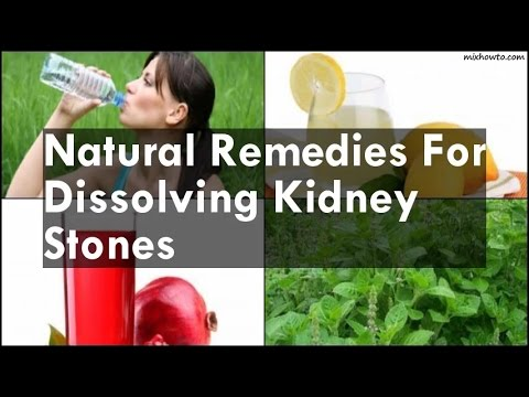 Natural Remedies For Dissolving Kidney Stones