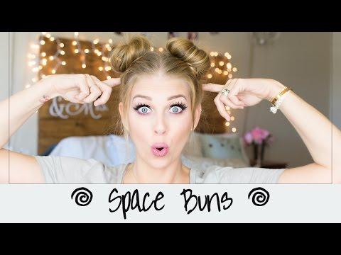 🌀 Space Buns    Double Buns    Hair Tutorial 🌀