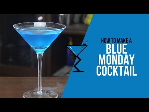 Blue Monday Cocktail- How to make a Blue Monday Cocktail Recipe by Drink Lab (Popular)