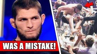 Khabib regrets UFC 229 Brawl and admits it was a MISTAKE; Mayweather responds to Khabib call out