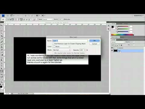 Beginner Photoshop Tutorials - Layer Order and Flattening Images