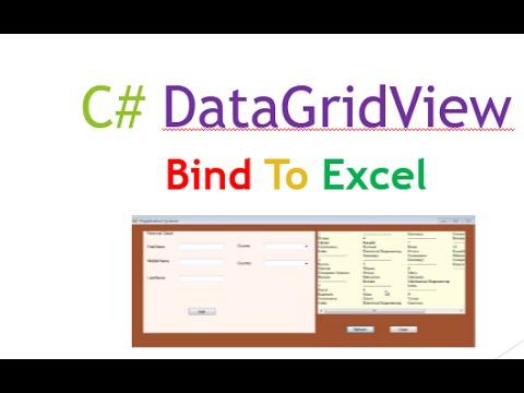C# Bind DataGridView To Excel