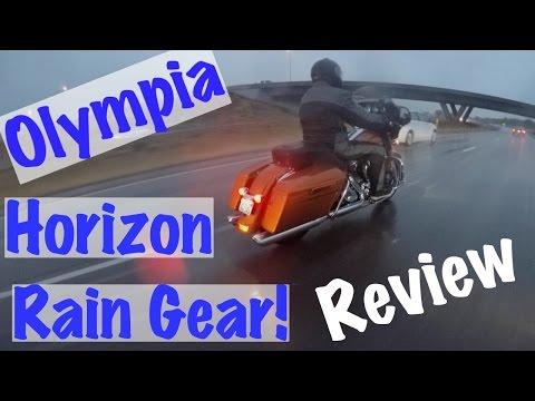 Olympia Horizon Motorcycle/Biker Rain Jacket & Pants Review   Biker Podcast