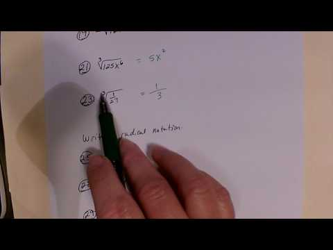 Find the root and write in radical notation
