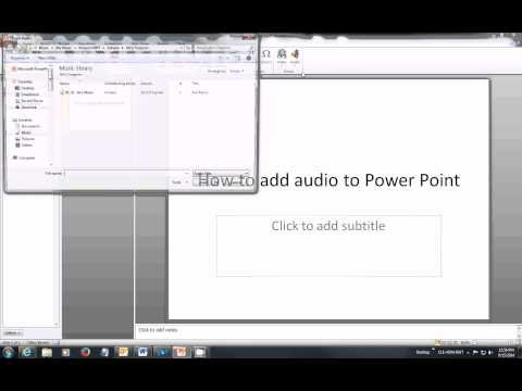 How to insert Audio into Power Point 2010