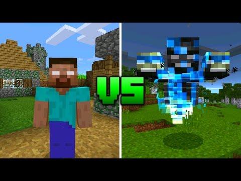 Wither vs Herobrine in Minecraft Pocket Edition