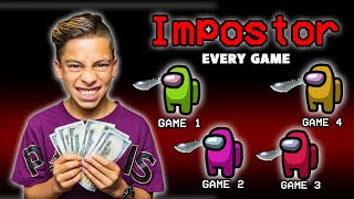 Every Time FERRAN IS IMPOSTER, He WIN'S $100! (AMONG US) | Royalty Gaming