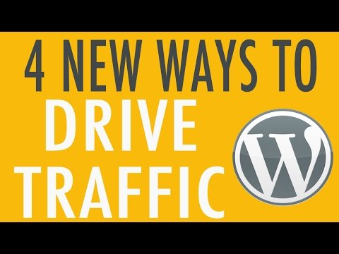 4 Ways to Drive Traffic  to Your WordPress Website