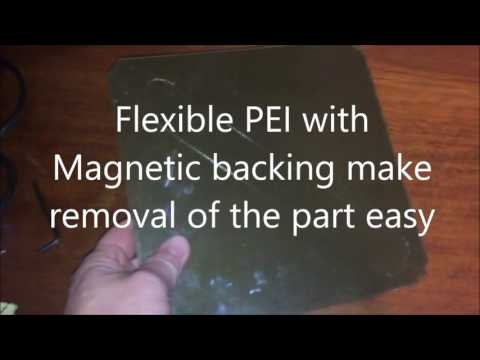 PEI printing surface with Magnetic Backing