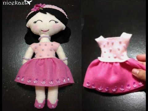 How to make Felt Doll part 2