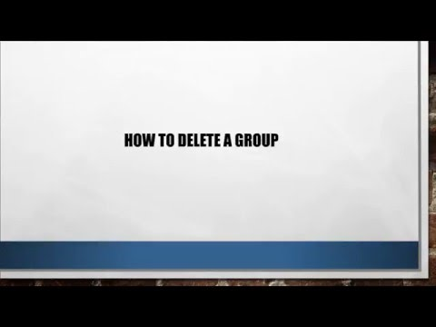 How to Delete a Group from Outlook Web App