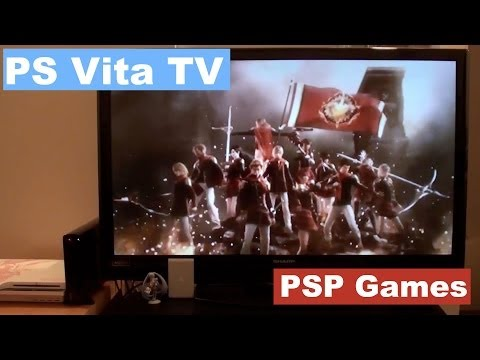 8 Fullscreen PSP Games on PS Vita TV [NihongoGamer]