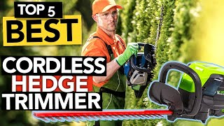 ✅ TOP 5 Best Cordless Hedge Trimmer 2021   In-depth Review