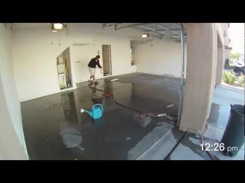 How to Apply Garage Floor Epoxy - in 2 Minutes