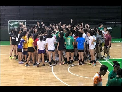 LOOK: DLSU hopefuls try out for Lady Spikers