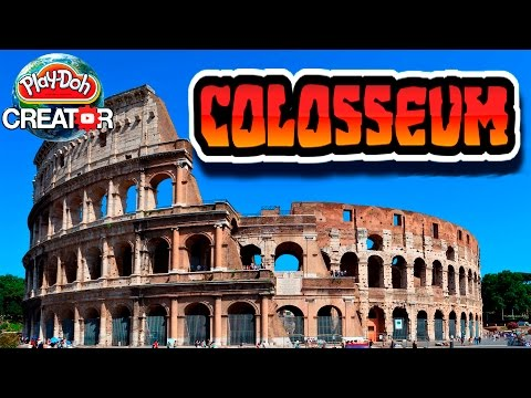 How to build Roman Colosseum (Coliseum of Rome) with Playdoh Как сделать Колизей из пластилина