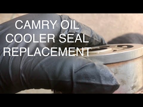 1996 Toyota Camry oil cooler gasket replacement