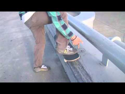 Skateboard Front Side 50-50 Ledge Trick