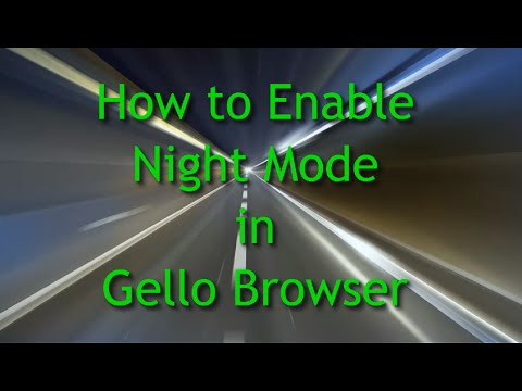 How to Enable Night Mode in Gello Browser
