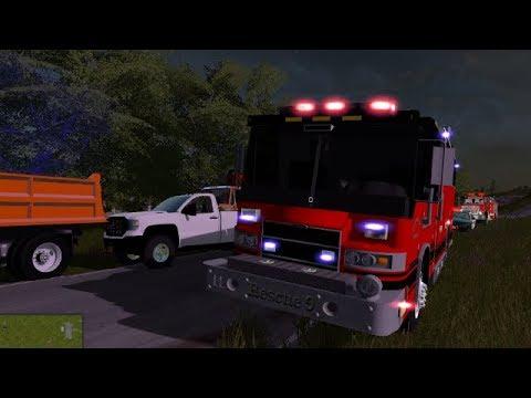 FS17 | Fire Department responds to Fatal MVA | New Trucks