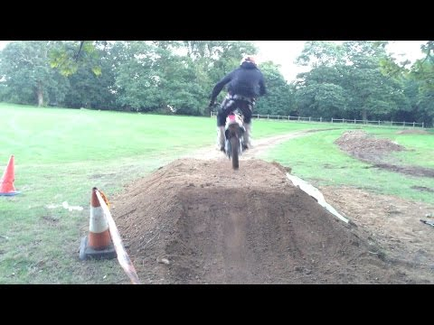 Building backyard pitbike track