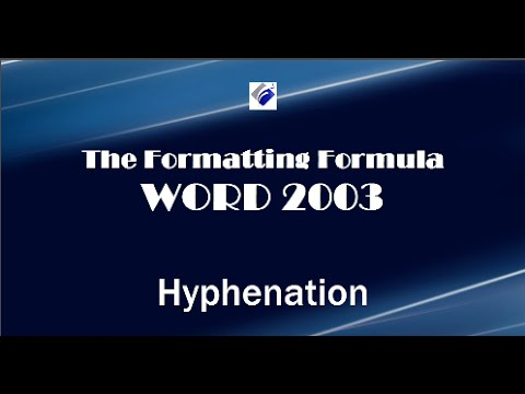 Word 2003   Hyphenation - Add Automatic Hyphenation To Your Documents