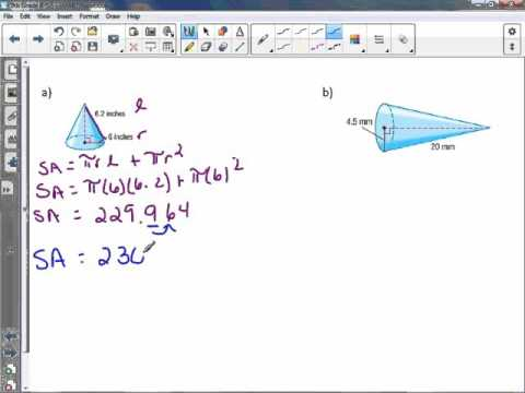 8th Grade 8-5: Surface Area of Cones