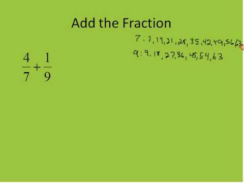 Adding and Subtracting Fractions Part 2 (Simplifying Math)