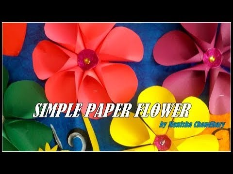Simple paper flower tutorial