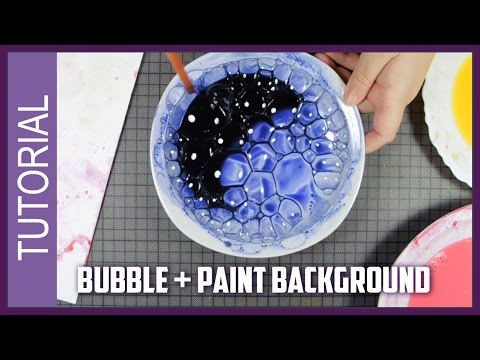 Easy Watercolor technique TUTORIAL How to create a BACKGROUND with BUBBLES !