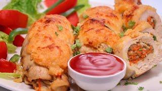 Stuffed Chicken Breast Recipe - SooperChef