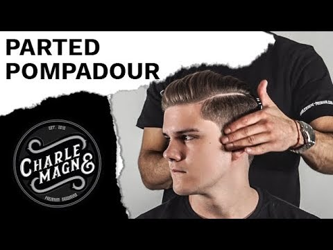 PARTED POMPADOUR WITH POMADE | CLASSIC MEN'S HAIR STYLE | HAIRSTYLE STYLING TUTORIAL FOR MEN