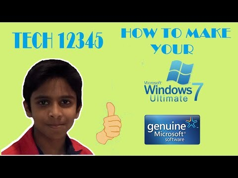 How to make your windows 7 genuine for free permanently (Hindi)