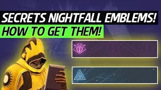 Destiny 2 - How To Get New Master Cartographer & Master Gardener Emblems! (secret Nightfall Emblems)