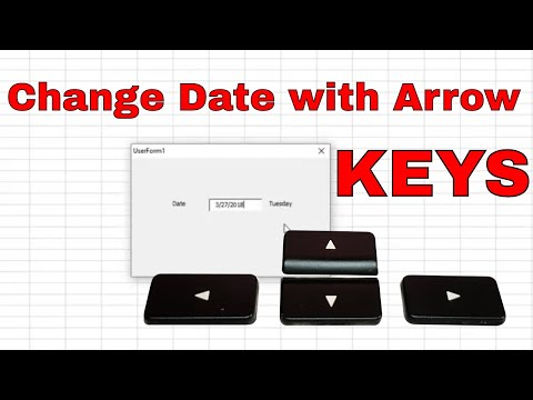 Increase TextBox Date Using Up and Down Arrow Keys - Excel VBA