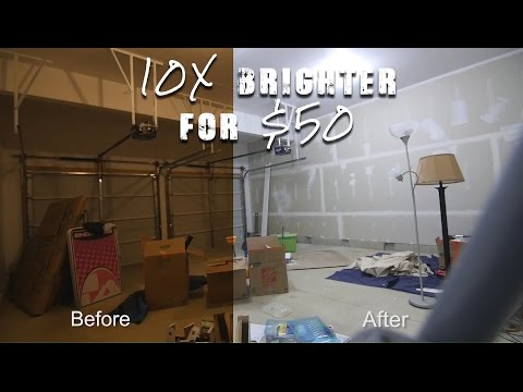 How to Make your Garage 10x Brighter in 5 minutes for $50