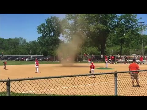 Little Leaguers Take 'Tornado Timeout'