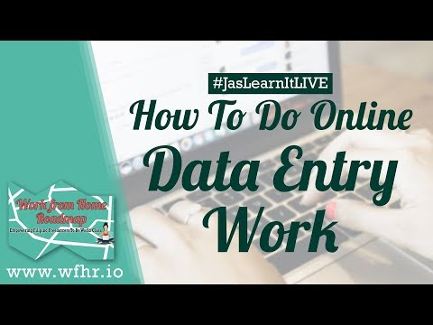 HOW TO DO DATA ENTRY WORK AS A FREELANCER (LIVE) | JASLEARNIT 019