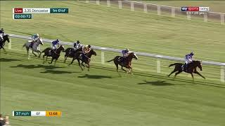 Logician and Frankie Dettori win the 2019 William Hill St Leger at Doncaster