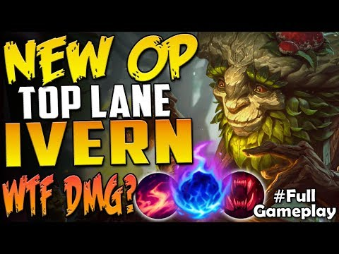 ~NEW OP~ TOP LANE IVERN | WTF IS THIS DMG??? | New Runes IVERN VS RIVEN TOP Season 8 PBE Gameplay