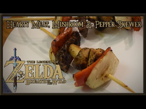 Zelda Breath of the Wild | How To Make Hearty Meat And Mushroom Skewers | Cuccos Kitchen