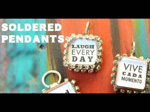 Sparkly Soldered Pendant Tutorial || Crafty Chica